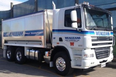 This new Wealleans Bulk Transport DAF truck is already into its work.