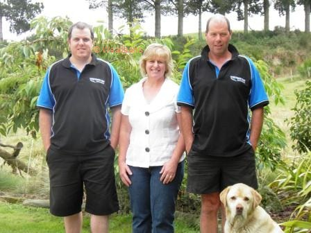 Western Bay Groundspread's Lincoln family, from left, Ben, Joy and Wayne.