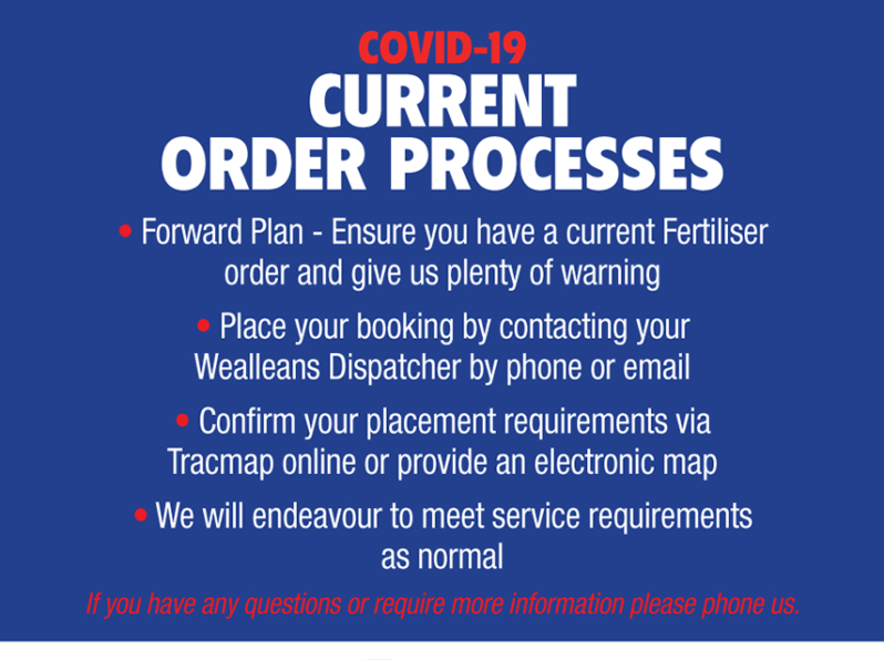 wealleans covid-19 order process